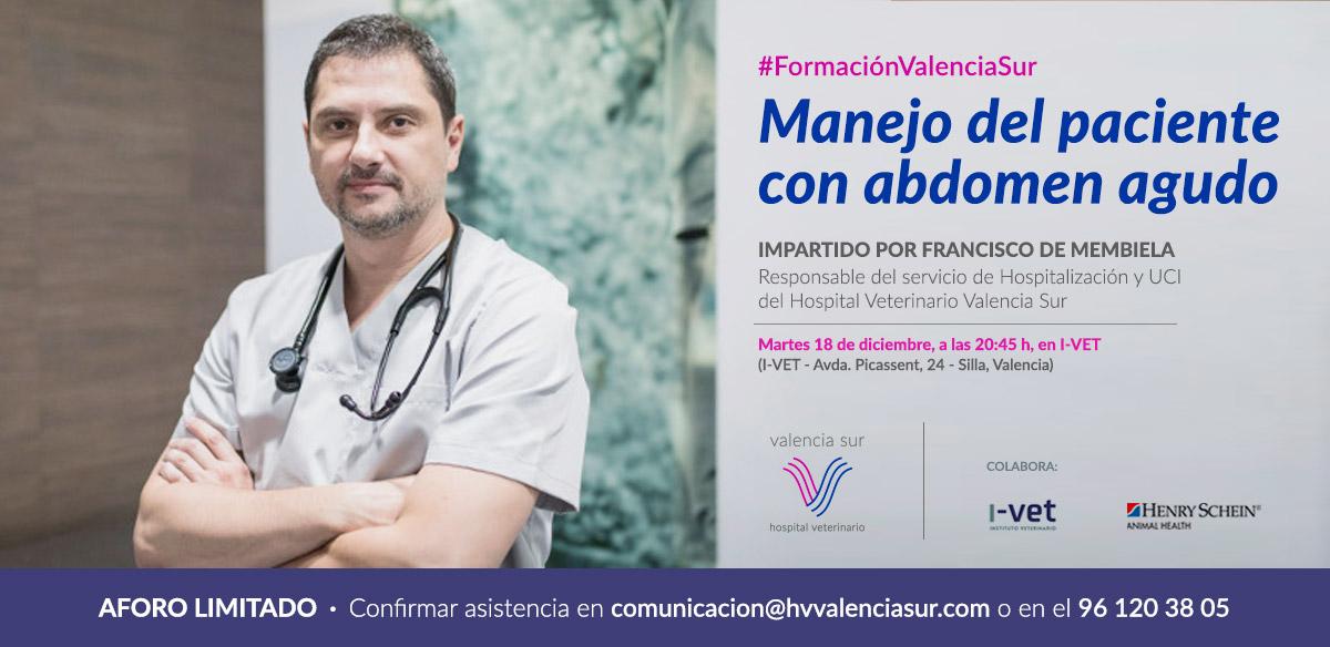 El Dr. Francisco de Membiela impartirá una charla sobre el manejo del paciente con abdomen agudo