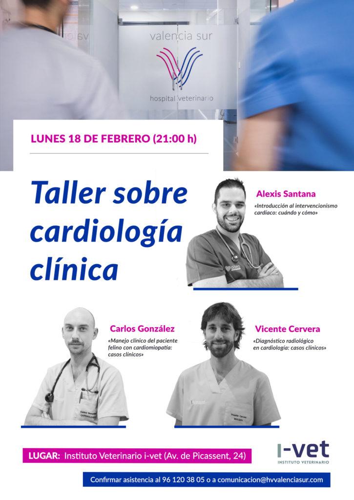 Cartel informativo 'Taller sobre cardiología clínica'