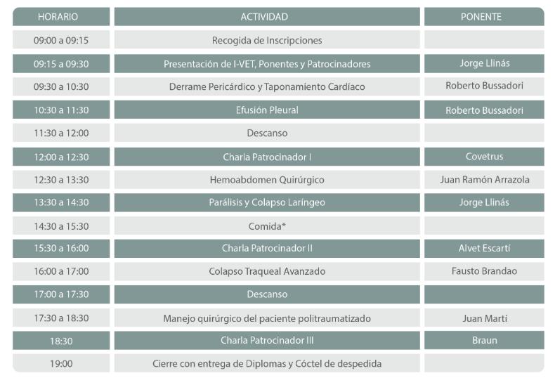 programa congreso veterinarios